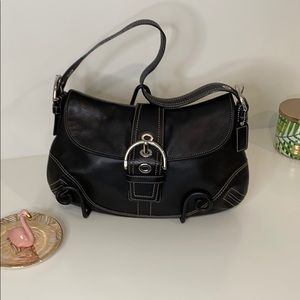 Authentic Coach Black Hobo with Silver Hardware